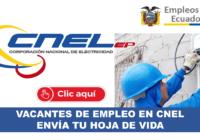 Vacantes de empleo en CNEL
